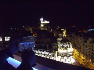On the top terrace of Circulo de Bellas Artes Madrid